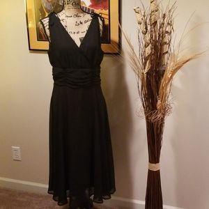Connected Apparel black evening dress